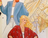Vintage Sewing Pattern Butterick 4658 Misses' Cover Ups Bust 30-32 inches Uncut  Complete