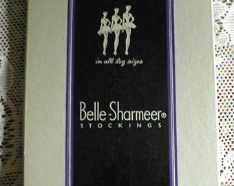 1930s Belle Sharmeer Vintage Hosiery Stocking Box Lovely Shapely Ladies Wearing Nylons