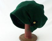 Slouchy Wool Hat in Emerald Green - Womens Hats