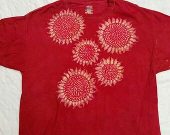 xl batik SUNFLOWER shirt Extra Large