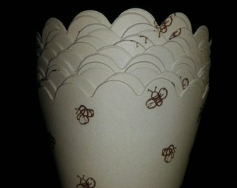 Pooh Bear's Honey Bee Cupcake Wrappers (12)- white inside