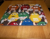 Mouse Pad M and M Rectangle Handcrafted