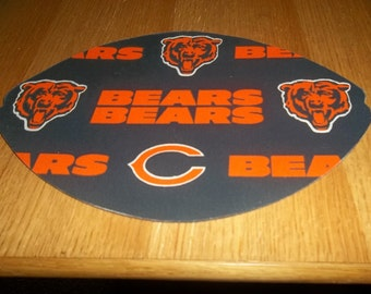 Mouse Pad NFL Chicago Bears Football Shaped Mat