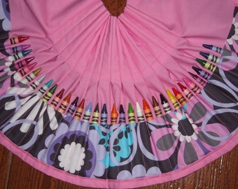 Flower shower crayon apron