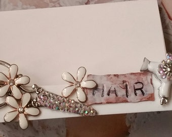 Pearl Scissor  HairStylist Business Card Holder