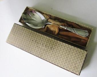 Vintage Silverplate Serving Spoon Rogers 1879 Chicago/Newport Pattern