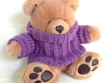 Teddy Bear Turtleneck Sweater