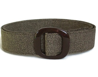 Brown Belt Women's Fabric Belt/ Wide Belt for Ladies/ Trench Coat Belt/ Narrow Brown D-ring Belt/ XS to Plus Size Belt