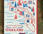 6 Pack of Happy Holidays from Oakland cards