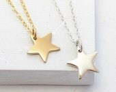 Star Charm Necklace | Delicate Everyday Jewelry | Charm Pendant Necklace | Celestial Jewelry | Silver or Gold