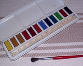Vintage Winsor Newton Scholastic Water Colour Box Reserved for Binzizi Dong