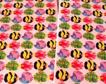Vintage Trend 1992 Exotic Fish Mini Stickers 2 Sheets