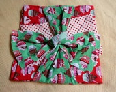 Ready to Ship Cupcake Tablecloth for Kids Table with 4 Napkins
