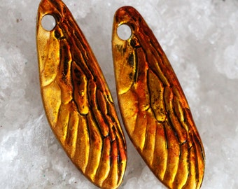 Dragonfly wing charms stained by joycelo
