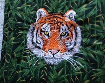 Tiger Embroidery Potholder