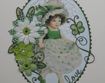 St. Patrick's Day Girl Premade Scrapbook Page Border Set