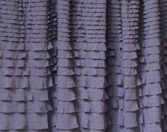 SALE - 1 yard Knit Ruffle Fabric - crescendo ruffles in Shadow Grey