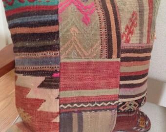 Vintage Patchwork Kilim Pillow Cover