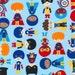 Superhero Fabric - Super Kids , Robert Kaufman Fabric, Super Kids, Boys,  Adventure, Blue, Ann Kelle, Cotton Fabric - 1 YARD