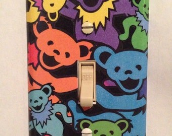 Grateful Dead Light Switch Wall Plate Cover Art Dancing Bears