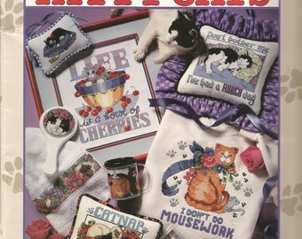 The Big Book of Kitty Cats, Good Natured Girls, Cross Stitch Patterns, Sewing Patterns, Sewing Supplies, Instructions, Colored Pictures,cute