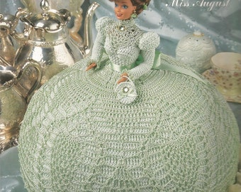 Miss August Gems of the South Collection Annie's Attic Crochet Pattern Mint Fashion Doll Dress Pattern