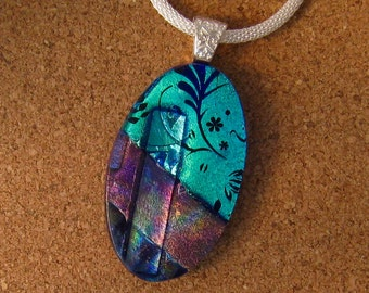 Dichroic Pendant - Dichroic Jewelry - Fused Glass Pendant - Fused Glass Jewelry - Dichroic Necklace - Dichroic Tree Pendant