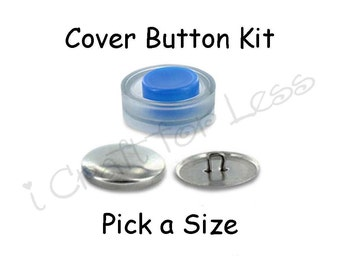 Cover Buttons Starter Kit with Tool - Pick Size - Wire Backs - Free Instructions - SEE COUPON