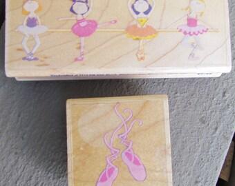 PRIMA BALLERINAS & BALLET SLiPPeRS rubber stamps - DeSTaSH