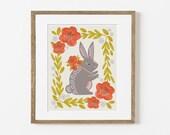 pack rabbit print