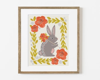 pack rabbit print