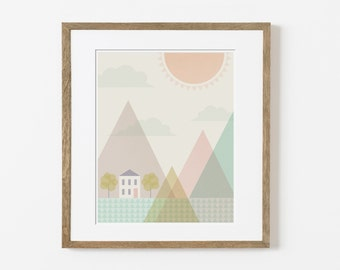 house in the hills print