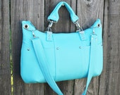 Purse /  Handbag / Crossbody Bag / Shoulder Bag / Stylish / Handmade / Aqua Denim