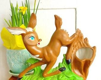 Oh Deer... Vintage Bambi Deer Doe Planter Ceramic Vase