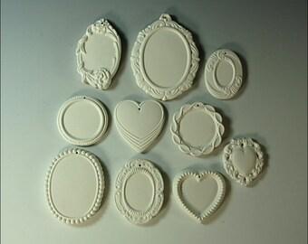 Jewelry Blanks Ceramic Bisque Lot