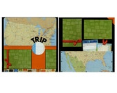 Trip - Two 12x12 Premade Travel Scrapbook Pages