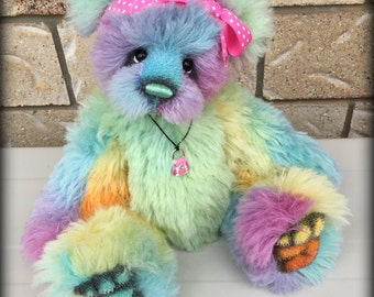 Sugar - cute and very versatile jointed artist bear INSTANT e Pattern FREE Postage
