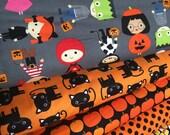 Halloween fabric, Halloween Kids fabric bundle by Ann Kelle, Fall Fabric, Cat Fabric, Halloween fabric- Fabric Bundle of 6, Choose The Cuts