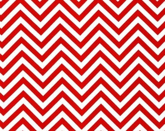 Red and White Fabric, Christmas Fabric by the Yard,  Ann Kelle and Fabric Shoppe- Remix Chevron Fabric in Red.  Free Shipping Available