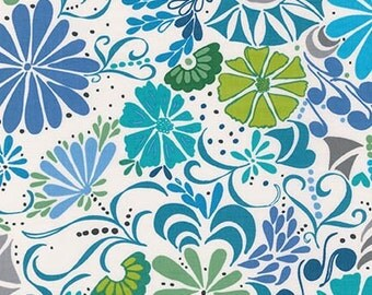 SALE fabric, Ashton Road fabric by Valorie Wells for Robert Kaufman Fabrics and Fabric Shoppe- Floral in Cabana- You choose the cuts
