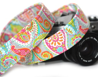 Camera Strap, Paisley Camera Strap,  Sunday Funday