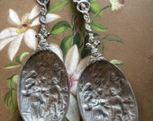 VINTAGE SPOON...pewter spoons-price per spoon-serving salad holiday table setting-European import-Thanksgiving Christmas gift