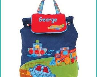 Personalized Truck Car Backpack, School Book bag, Toddler Backpack, Diaper Bag, Children's Monogramed Backpack, Girl Boy Backpack,School Bag
