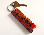 Wave Keychain in Leopardw...