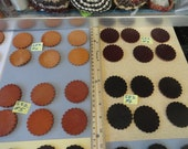 Choose your Thick Leather Scalloped Conchos 2 Inches, 50 mm 6 pcs.  S 82