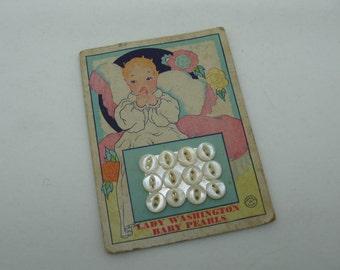 Lady Washington Baby Pearls on Card