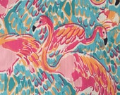 "lilly pulitzer's multi peel and eat dobby cotton fabric square 18""x18"""