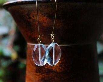 Natural Stone Earrings, Aqua Marine Stone Earrings, Blue Stone Earrings, Dangle Earrings, For Her, Light Blue Aqua Marine Stone Earrings