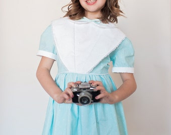 Retro 1950 Style Lace and Polka dot Dress children girl toddler