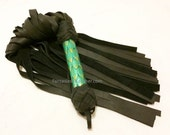 SALE Green Dragon Scale Leather Flogger Whip BDSM Kink Fetish (FLG 104)